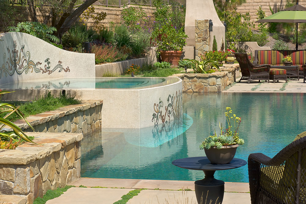 Claremont pool design installation by huntington pools inc for Pool design inc