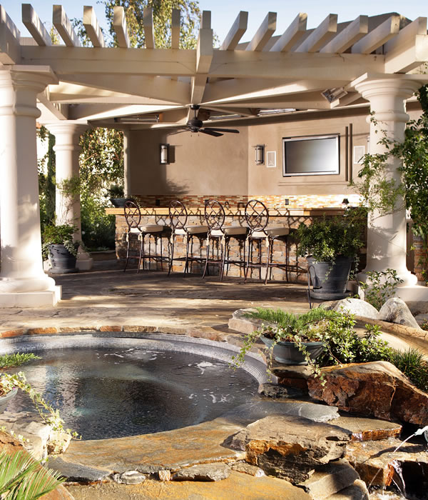 Outdoor Living Services provided by Southern California Pool Design  & Installation Huntington Pools Inc